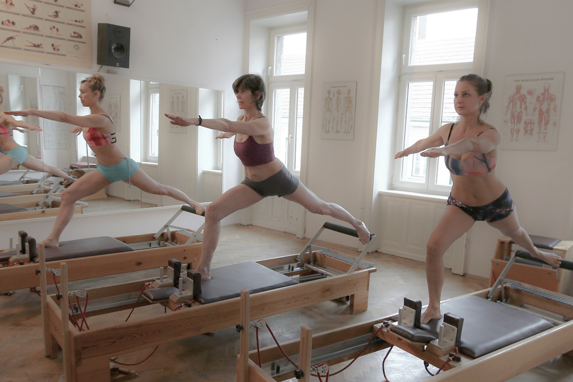 pilates reformer training warrior women