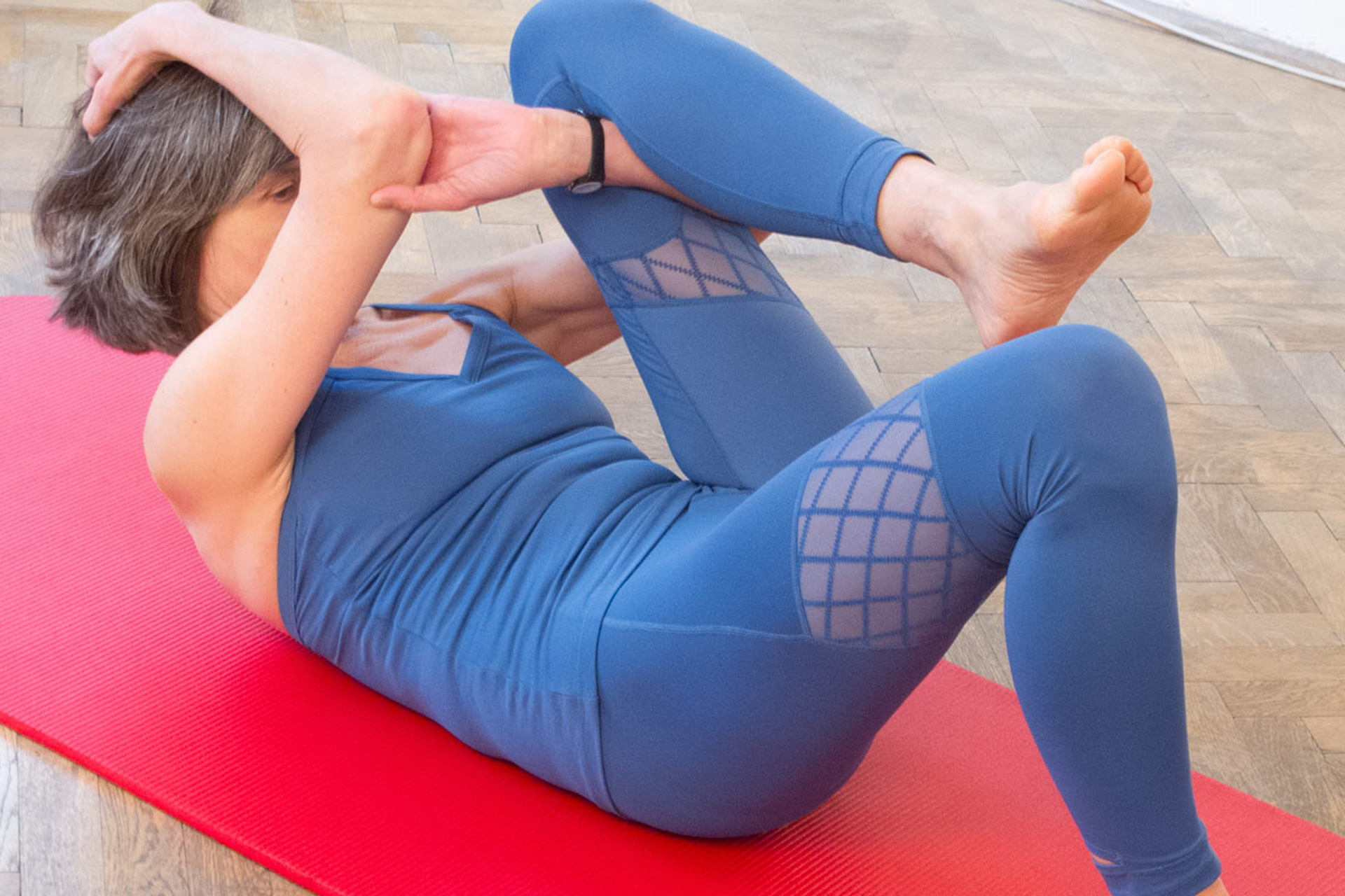 Hängematten Stretch Pilates Release Werkzeug Spine Stretch Forward Übung
