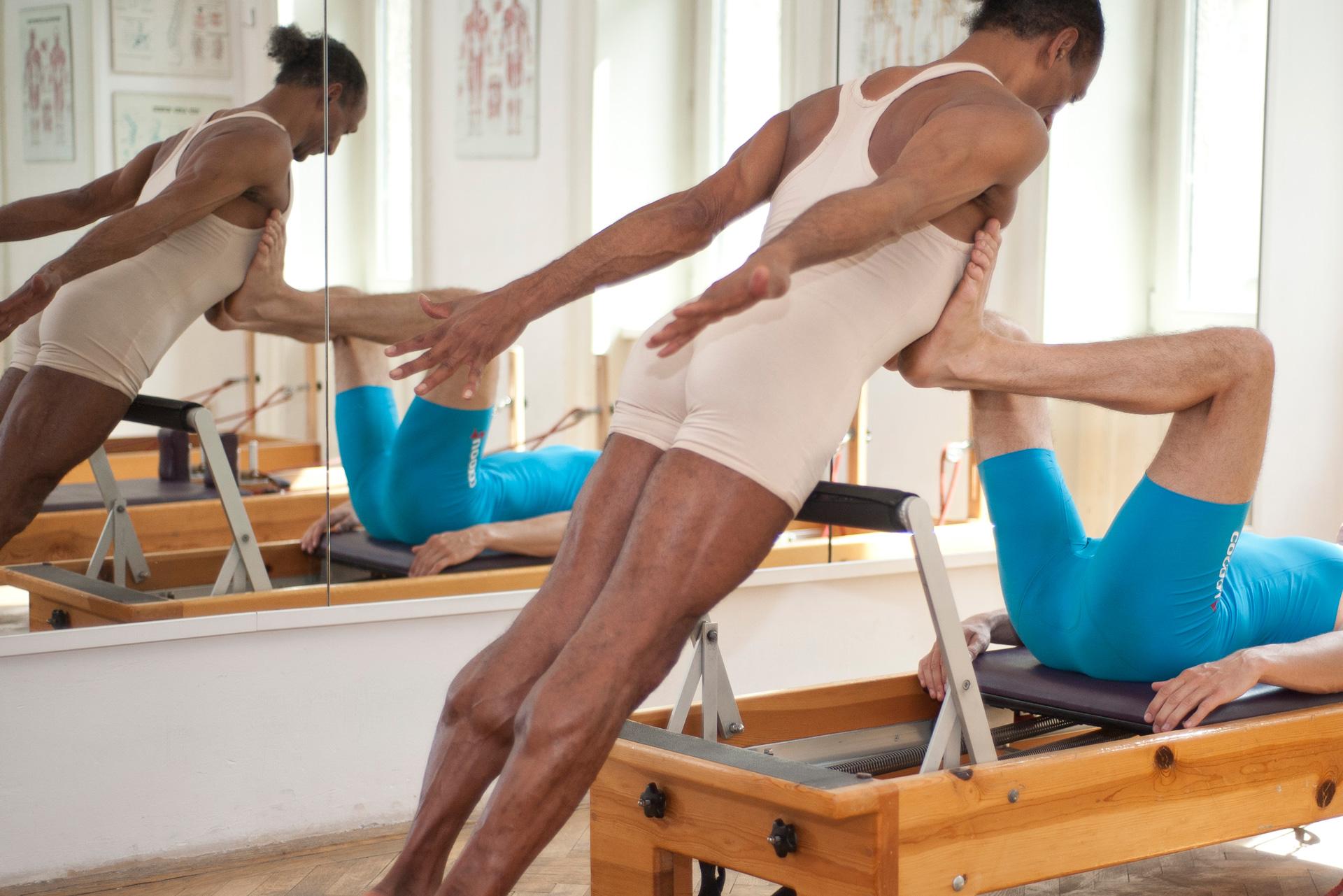 differenzierte Pilates reformer footwork wahrnehmungs-tool körperbewusstheit